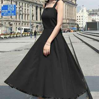 ☝修身黑裙