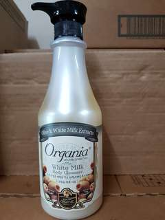 Organia White Milk Body Cleanser 750ml