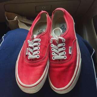 Authentic Vans - Red