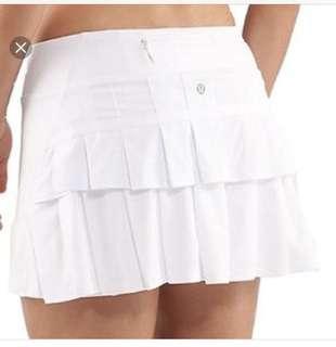 XS Lululemon IVIVVA SET THE PACE SKIRT Golf Tennis Badminton gym golf run running dress 羽毛球 網球 哥爾夫球 跑步 百褶 短裙 裙子
