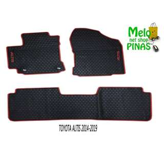 Anti-Slip Rubber Matting for Toyota Altis 2014 to 2018 (Red Lining)
