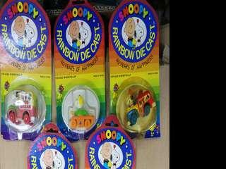 九十年代史諾比鐵車仔 Snoopy diecast 全新$100一架