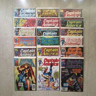 18 copies of CAPTAIN AMERICA Comics