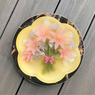 🚚 3D flowers jelly cake