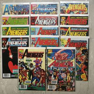 14 copies of AVENGERS Comics