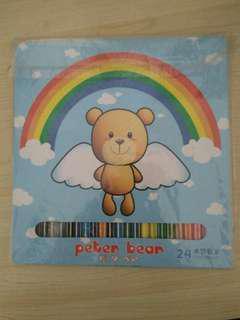 全新24 色 木顏色筆
