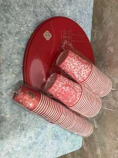 大(32隻)細(40隻)敬茶紙杯