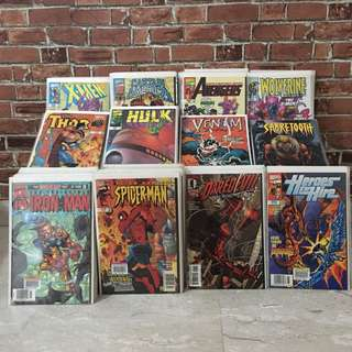 121 copies of Marvel Comics