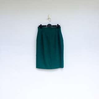 🚚 二手 綠色 高腰 短裙 明太子 702