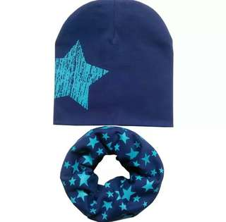 🚚 Starstrucked baby scarf and cap set