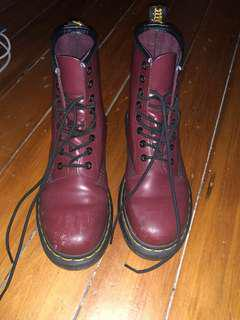 🖤 Cherry Smooth 1460 8 Eye Dr. Martens Boots