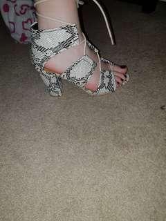 Snake skin look heels