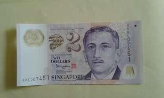 $2 Low N0 6RE007451