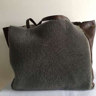 Celine Shearling Cabas - Authentic