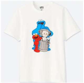 UT Uniqlo X Kaws X Sesame Street S size