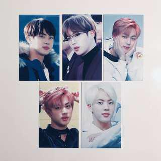 bts jin photocards
