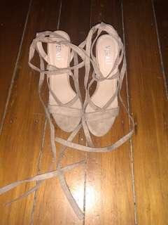 Verali Nude Strappy Heels
