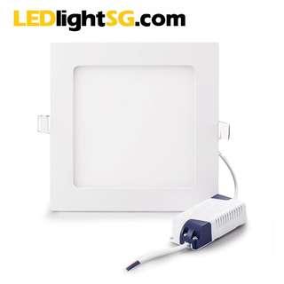PROMO 10 units 12W LED Flat Panel Downlight 1yr warranty Round Square White / Warm White