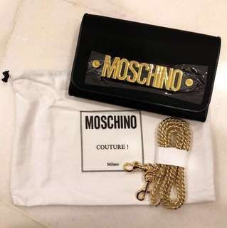 MOSCHINO Wallet on Chain Clutch WOC