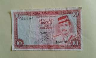 BRUNEl $10 A/19 530205  1986