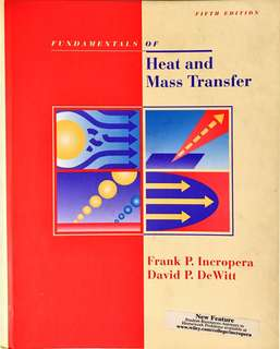 Fundamentals of Heat and Mass Transfer (5th Edition)
