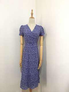 Lavender Floral Wrap dress 🌸