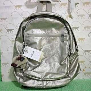 Kipling Backpack- Challenger Silver