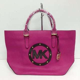 Authentic Michael Kors Stacked Logo Tote Pink