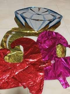 Foil balloons for wedding
