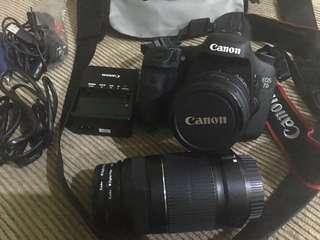 Canon EOS 7D set, mulus, extra lensa, jarang bgt dipakai