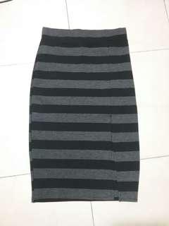Bandage corporate skirt with slit
