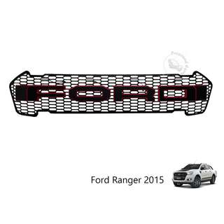 FORD RANGER 2015 FRONT GRILLE (FRF-081) FORD WORDING (RED&BLACK) WITH 4 YELLOW LED