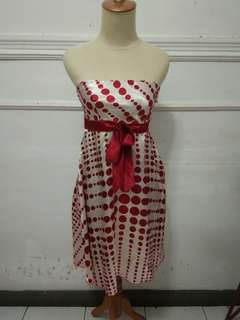 Chic Simple Dress Red Polka