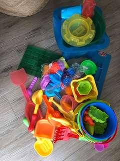Beach sandcastle building toys