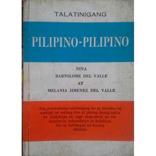 Talatinigang PILIPINO-PILIPINO