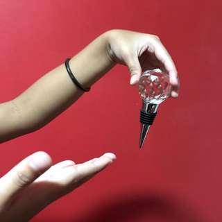 Gift-Wrapped Crystal Ball Bottle Stopper (Can buy in bulk!!)
