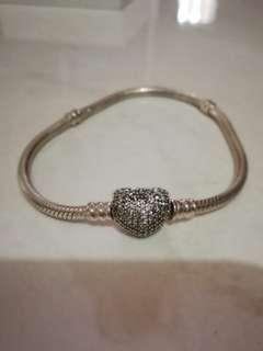 Pandora inspired Silver Bracelet