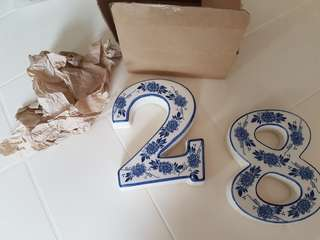 Porcelain House Number