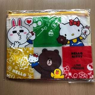 Hello Kitty Line Friends 文件袋