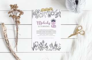 Customisable event party invites