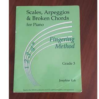 Grade 3 Scales, Arpeggios & Broken Chords for Piano - Fingering Method