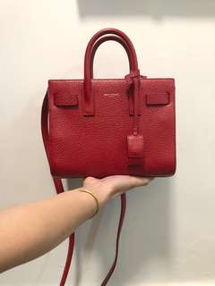 saint laurent ysl red sac de jour sdj bag nano size 紅色 包包