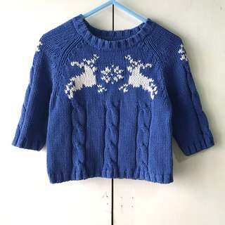 Land's End Babies' Blue Knitted Sweater (3-6 mos)