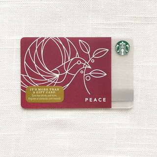 Starbucks Peace 2017 Card