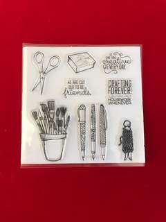 Crafting scrapbook clear stamps