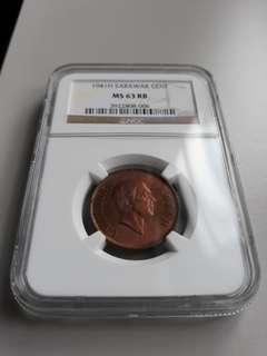 Sarawak 1 cent 1941H