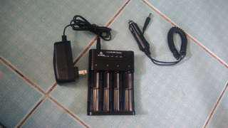 XTAR battery charger with car charger
