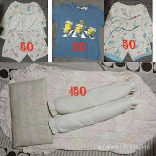 Shorts, beddings