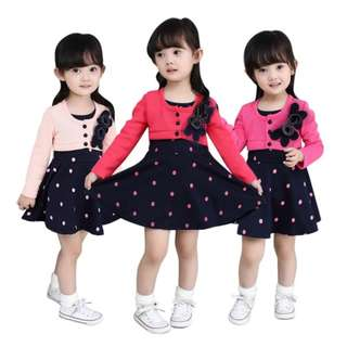 Baby Girls Cotton Dot Pattern Princess TuTu Dress [PRE-ORDER]