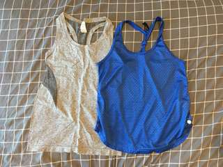Two exercise singlets